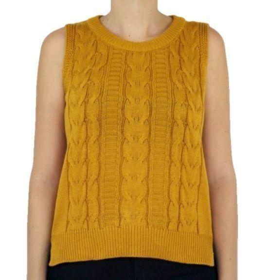 Colete fechado de tricô na cor ouro da marca Coleteria ♡ - Coletes femininos e infantis - Coleteria | sempre♡