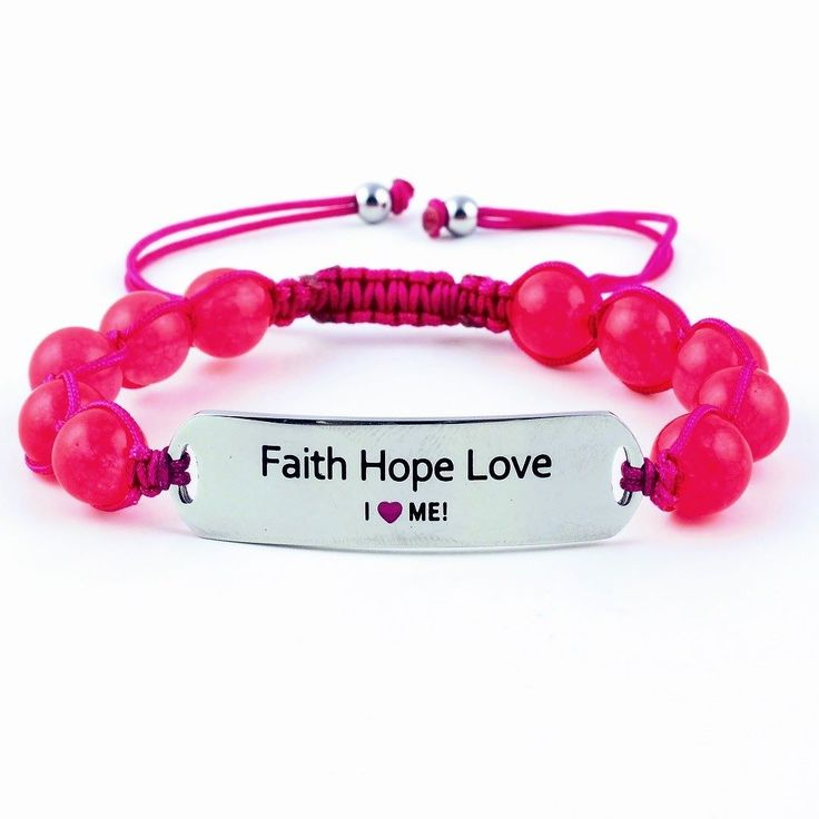 "The time for Faith Hope Love has come. #christmas  Motivational gemstone gifts for your loved ones. Strong light non-allergenic adjustable personalised. Wear everywhere.  Go to link in bio chose your favourites and use code ""blackfriday"" to get 50% discount at checkout.  Choose between 19 beautiful messages and 3 gemstones: black onyx marine blue lazurite or pink imperial jade.  We ship worldwide. Easy payment fast shipping from Sweden.  #ilovemejewellery Follow for inspiration…"
