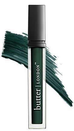 Butter London | British Racing Green Mascara  Using this green mascara really takes away from and compliments read facial tones and hair color.