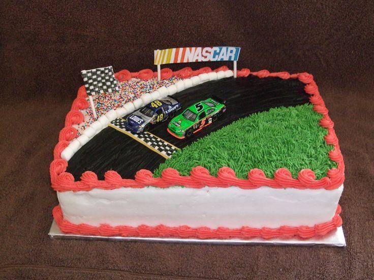 Nascar Daytona 500 Birthday Cake PIcture