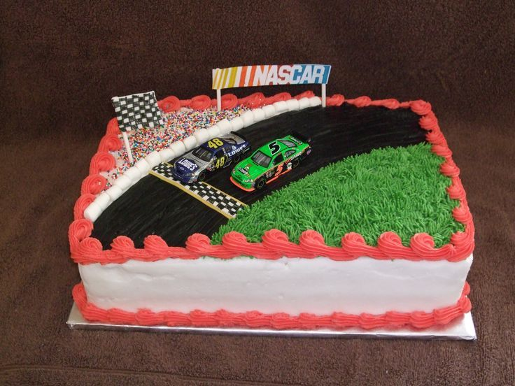 Nascar Daytona 500 Birthday Cake PIcture