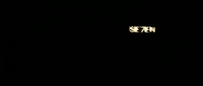 Seven (1995). Title sequence designed by Kyle Cooper.