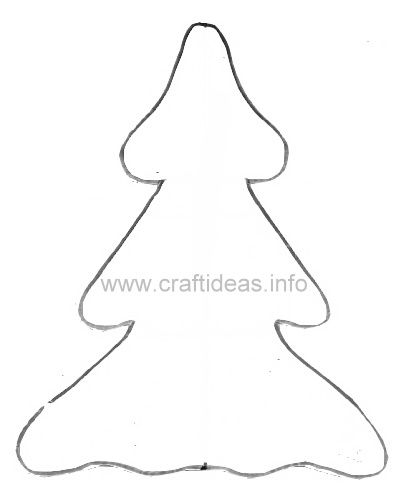 Christmas Tree Pattern for Snowman Decoration 500 c