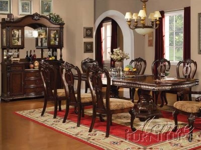 Cherry Finish Anondale Classic Dining Table W/Options By Acme