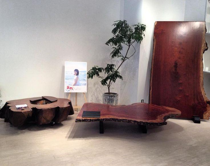 NHK連続小説「まれ」に使われていたテーブル3点を横浜ギャラリーに展示しています。お近くにお住いの方は是非!! #まれ#木馬#まれテーブル#アトリエ木馬#ateliermokuba#テーブル#囲炉裏#ケヤキ#ブビンガ#和室#日本#撮影#drama#家具#インテリア#朝ドラ#団欒#Interior#tv#wood#woodslab#woodtable#woodworking#woodfurniture#furniture#liveedge#関家具#土屋太鳳#大泉洋#アトリエ木馬#一枚板