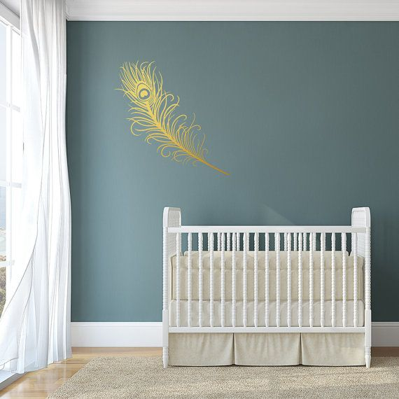 Peacock Feather, Wall Decal, Wall Art, Peacock Stickers, Peacock Art,  Peacock Part 86