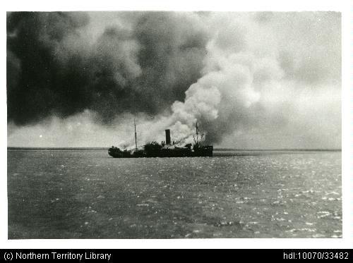 SS Zealander bombed Darwin Harbour Japanese air raid - Ozatwar