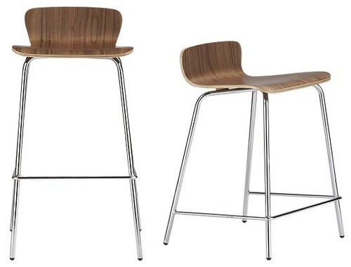 Felix Walnut Barstool Counter Stool Modern Bar