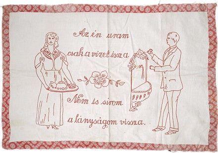 Az én uram... - Magyar falvédő ¤ Hungarian embroidered wall carpet