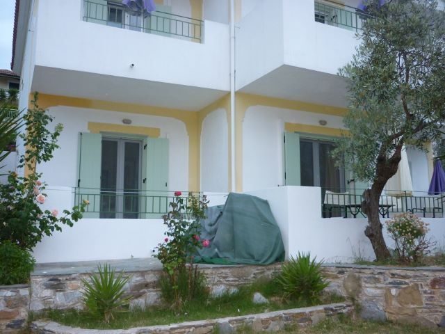 Our lounge room and master bedroom had balcony's in Skopelos, Greece.