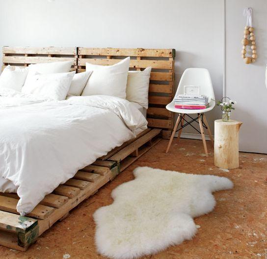 北欧インテリアのベッドルーム