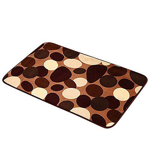 Ulanda Anti Skid Fluffy Shaggy Area Rug Home Bedroom Bathroom Floor Door Mat Shower Bath Mats 40x60cm Fm15 Brown D Entrance Rug Rugs Rugs On Carpet