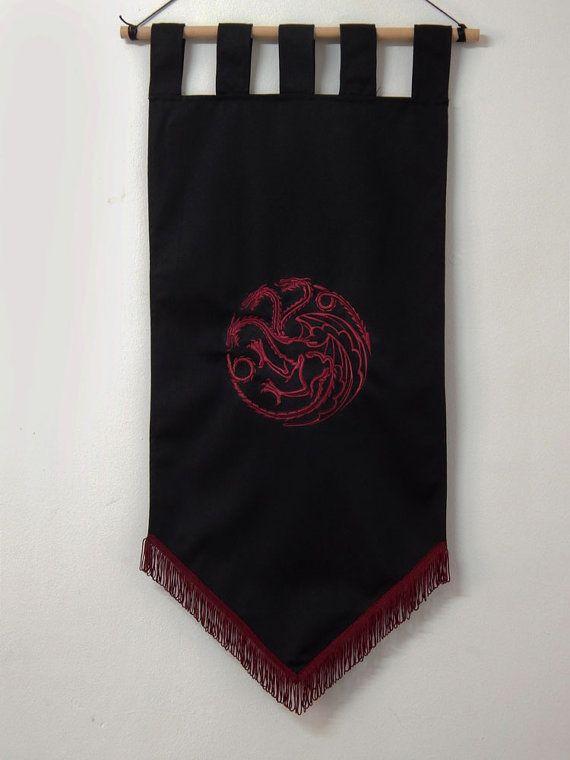 Game Of Thrones Flag Curtain House Targaryen Home Decor By Oki007