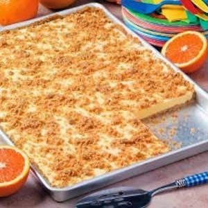 Orange Cream Freezer Dessert - With its bold orange taste and cool smooth texture, this appealing ice cream dessert is crowd-pleaser..