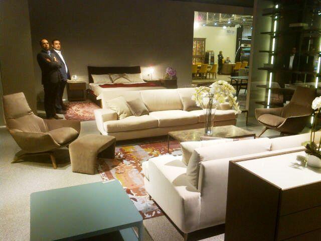 Interior Mebel - Kiev 2014.    Ermes armchair and British sofa