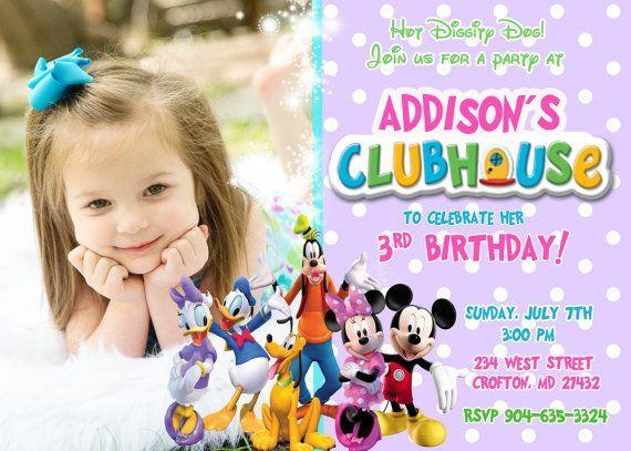 mer enn 25 bra ideer om mickey mouse clubhouse invitations på, Invitation templates