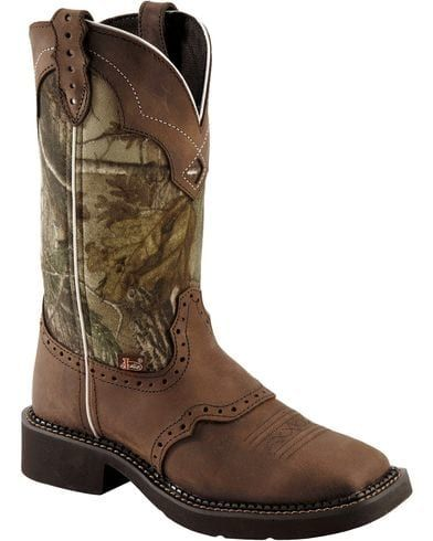 Justin Gypsy Real Tree Camo Cowgirl Boots - Square Toe | Sheplers