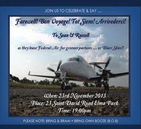 INVITATION DESIGN - Farewell Party E-Invitation