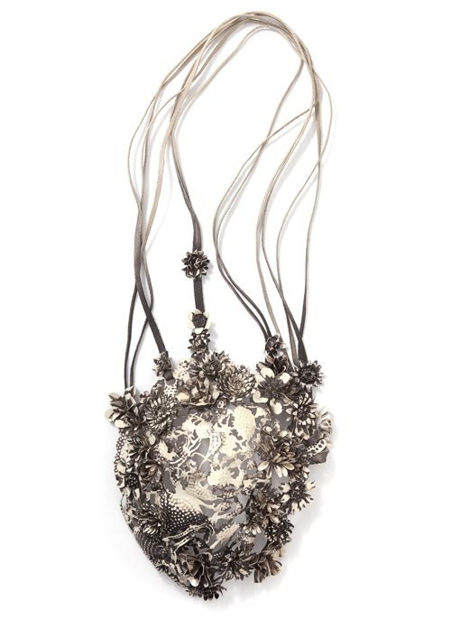 Hanna Hedman Neckpiece: Black Bile 2013 Silver, leather, copper, steel, paint 65x22x9.5 cm