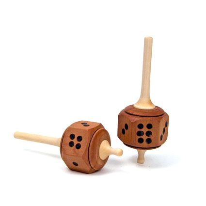 Dice Spinning Top | Tops & Yoyos | WOODEN TOYS | TheWoodenWagon