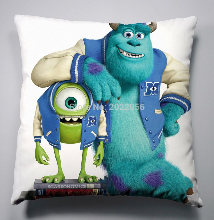 Free Shipping Anime Manga Monsters University Pillow 40x40cm Pillow Case Cover Seat Bedding Cushion 005 #Affiliate