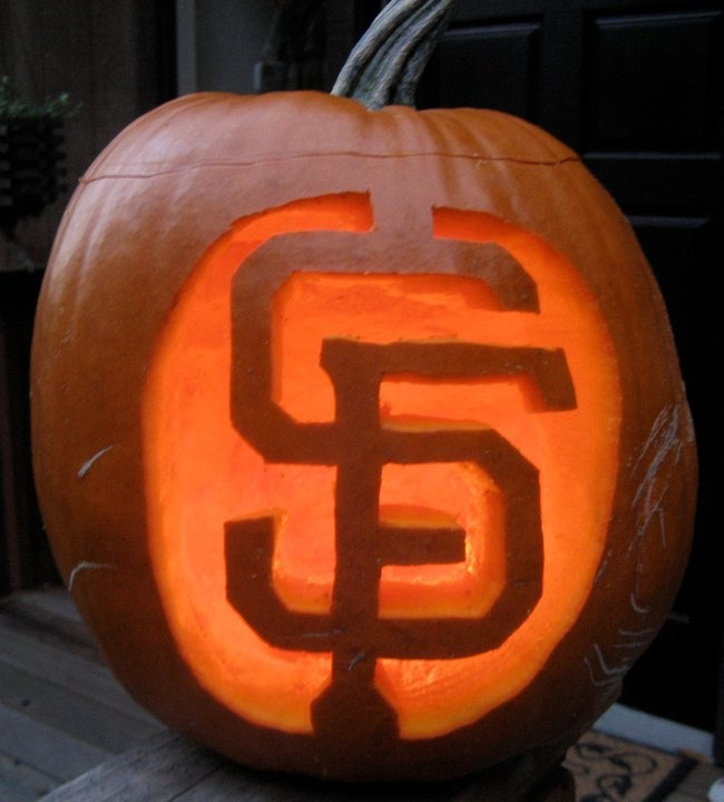 SF Giants pumpkin