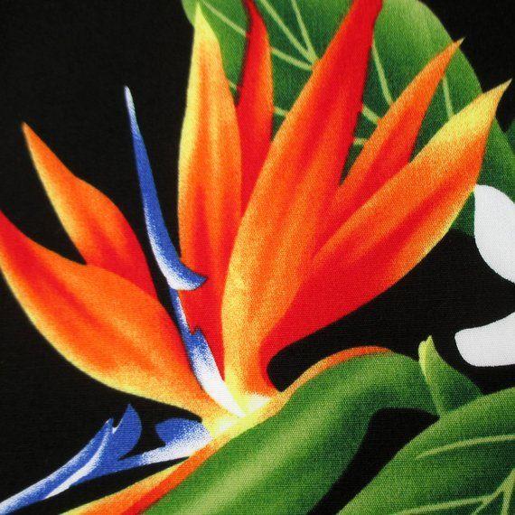 Tropical Fabric Paradise Garland Hawaiian Bird Of Paradise Etsy Birds Of Paradise Flower Paradise Flowers Tropical Fabric