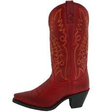 Ladies Red Cowboy Boots - Cr Boot