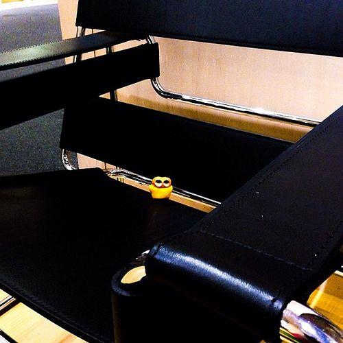 Invade cool leather black chair! #mizumushikun #art #design #furniture #cool #funny #craft