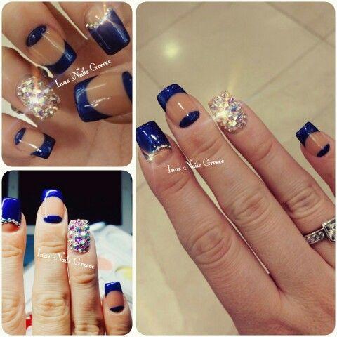#swarovski #bluenails #chicnails #hotnails #lovenails