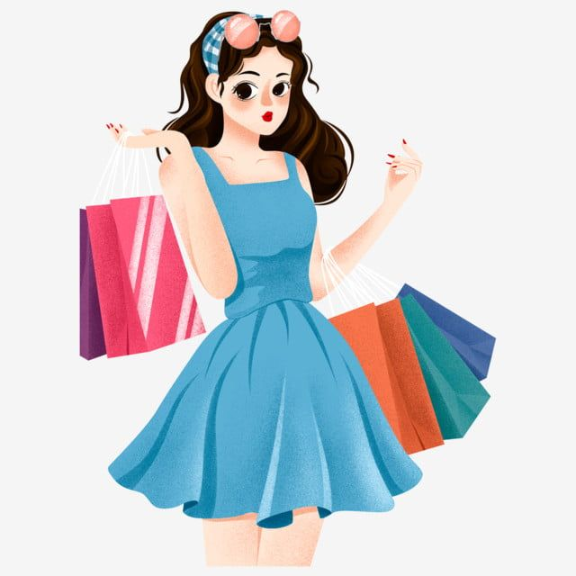Hand Drawn Cartoon Cute Shopping Girl Elements Shopping Clipart Girl Hand Drawn Png Transparent Clipart Image And Psd File For Free Download How To Draw Hands Shopping Clipart Girl Clipart