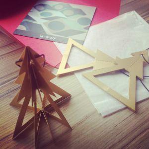 John Lewis Livingly geometric tree decoration (Mostly) Yummy Mummy Blog. Design by Louise Helmersen