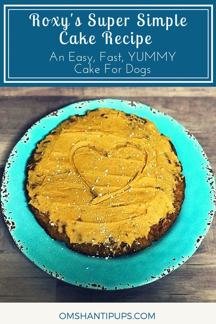 Looking for an easy, fast cake recipe for dogs? Check this one out using ingredients I had on hand! via @OmShantiPups