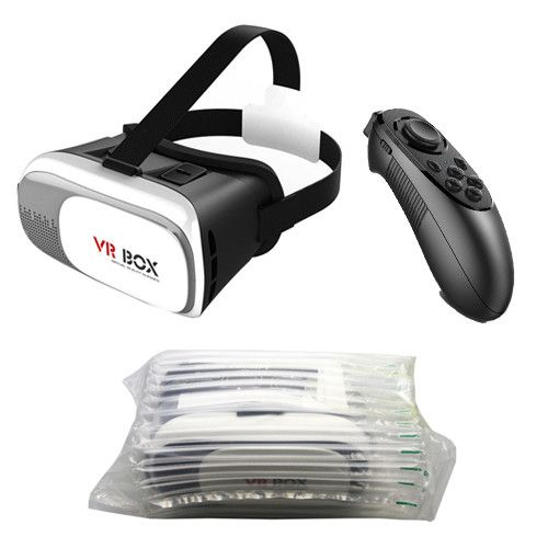 Mllse VR BOX 2.0 Virtual Reality Google Cardboard For 3.5 - 6.0'' phone Iphone/Xiaomi vr heaset 3D Glasses with gamepad