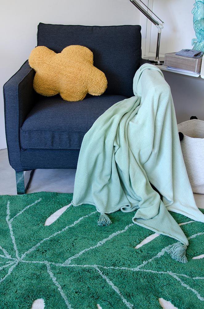 NEW Blanket Ombré Green #washablerugs #lorenacanals #blanket #ombre