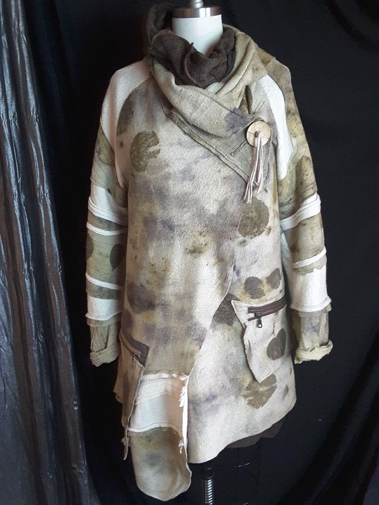 Eco felted coat.