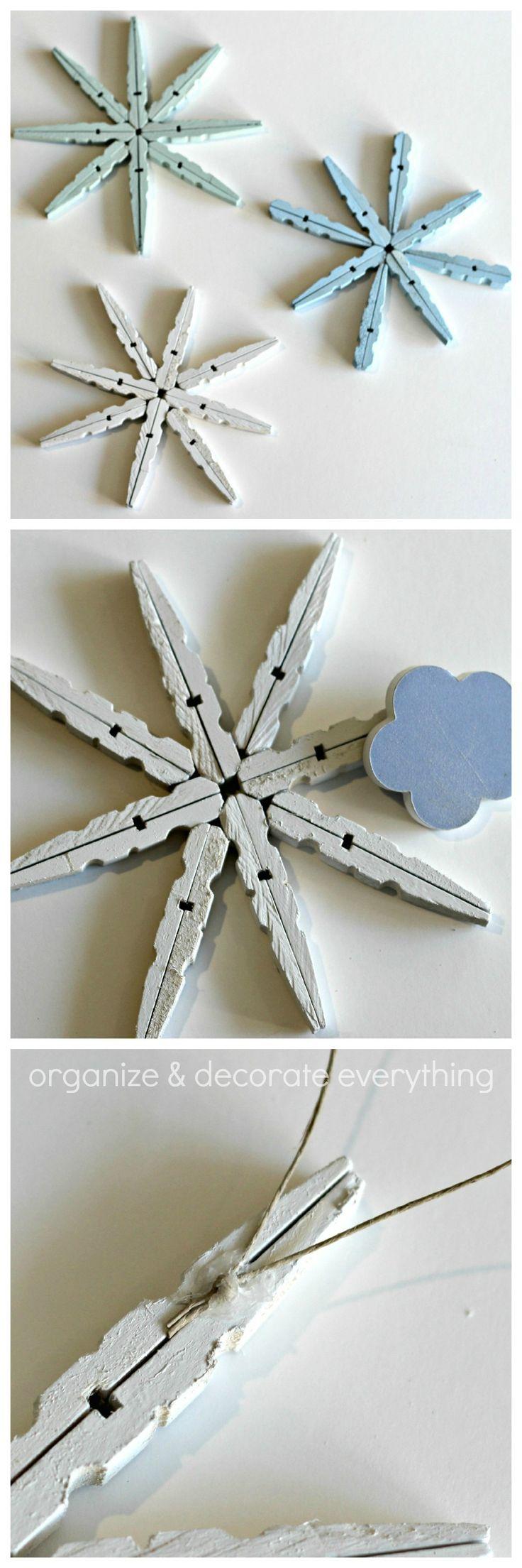 Clothespin Snowflake Ornament 23.1