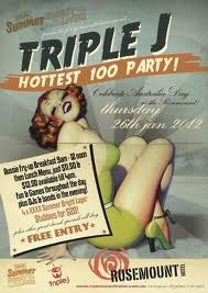 Triple J Hottest 100 - the annual Australia Day countdown (non-commercial national youth radio station)
