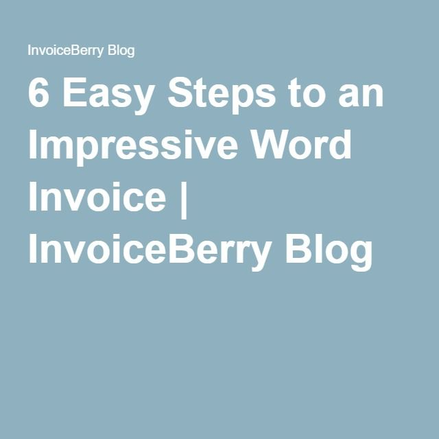 10 best Creating invoice with Microsoft Word step by step guide - invoice word