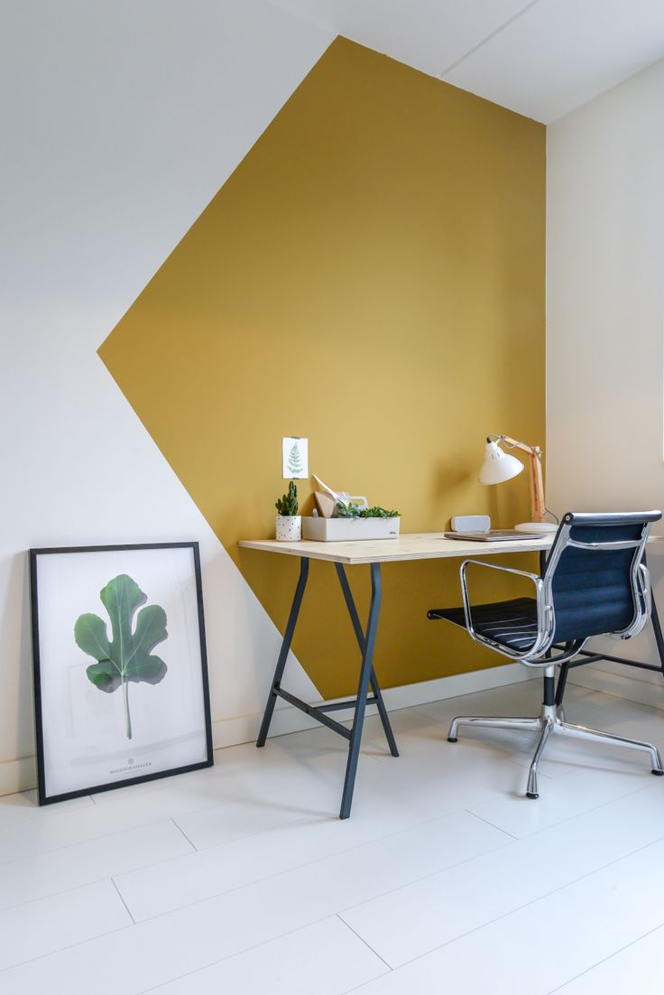 Blogger Anne van @remadewithlove deelt drie (oker)gouden tips voor een inspirerende werkplek! #workplace #ochre