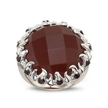 carnelian ring sterling silver jcpenney fashion