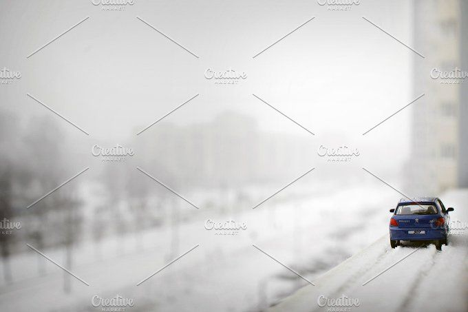 Ford in the winter metropolis by tabby on @creativemarket