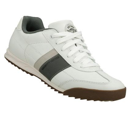 SKECHERS Mens Ascoli Winning Streak Lace-up Sneakers - White/Grey - 9.5