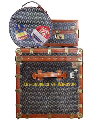 The Duchess of Windsor's Royal Style  The duchess's original Goyard luggage.