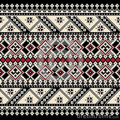 Vector illustration of ukrainian folk seamless pat by Garrykillian, via Dreamstime