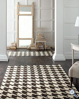 Houndstooth Rug If Only It Were Black White Not Brown