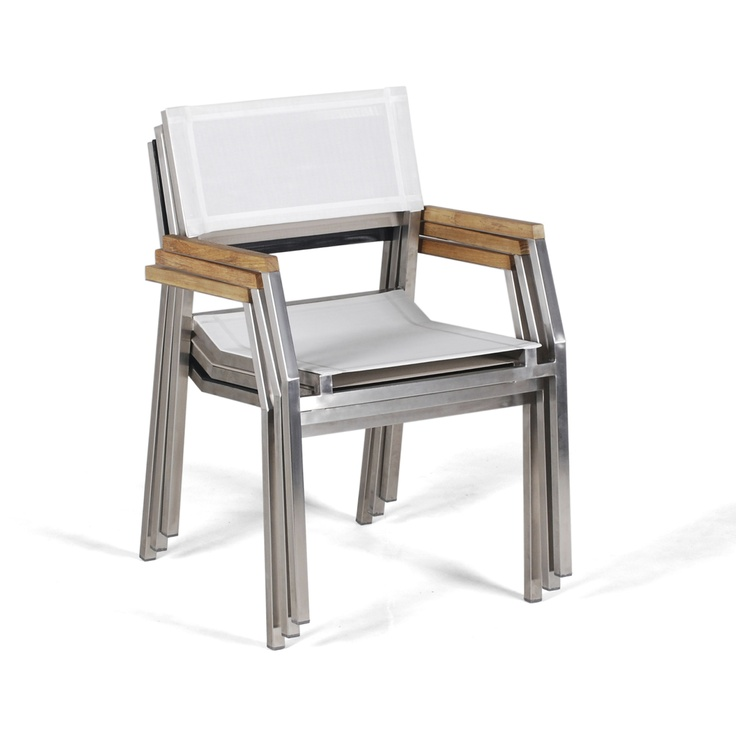 Salma SS stacking armchair