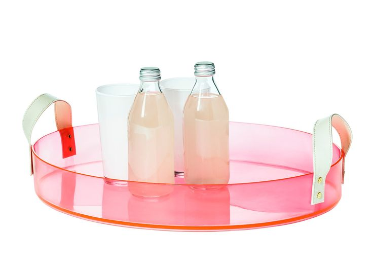 A colorful clear acrylic tray from the Oh Joy collection