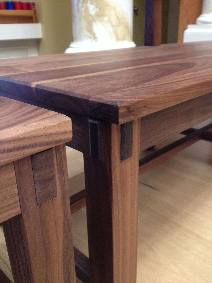 Mortised Half Lap Joints Used For Chair Frames On The