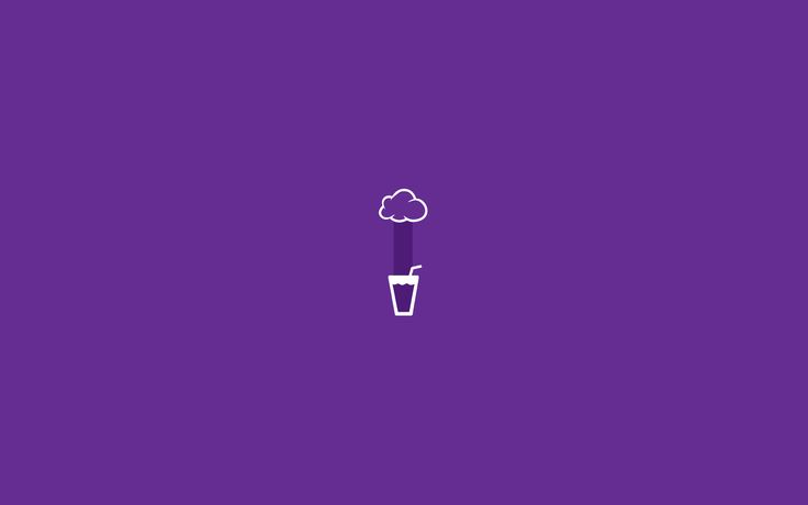 Glass rain minimalist wallpaper violet1